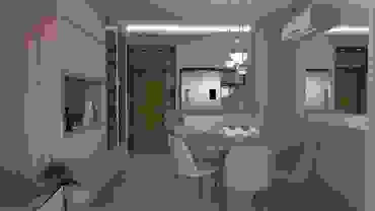 Apartamento Jovem Casal BC Arquitetura Salas de jantar modernas Bege