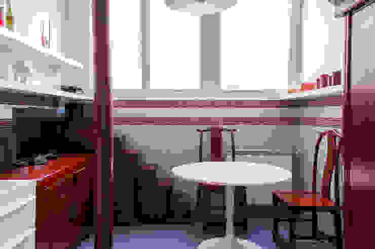 CUCINA OPA Architetti Cucina in stile asiatico Rosso