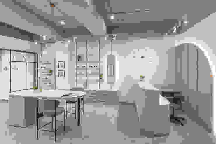 櫻桃眼鏡 漢玥室內設計 辦公空間與店舖 塑木複合材料 White