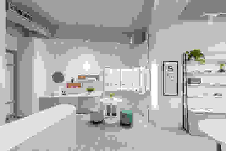 櫻桃眼鏡 漢玥室內設計 書房/辦公室儲藏櫃 玻璃 White