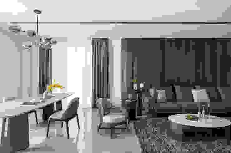 引聚 漢玥室內設計 客廳沙發與扶手椅 瓷器 Beige