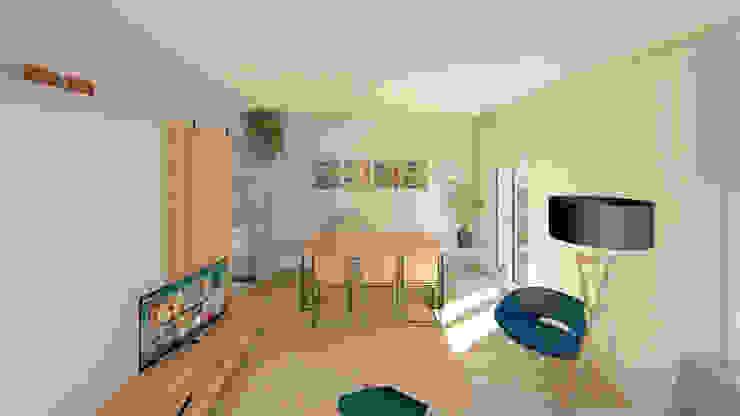 Salón y comedor Luciane Gesualdi | arquitectura y diseño Comedores de estilo moderno