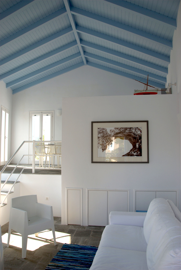 OPA Architetti Minimalist Oturma Odası Beyaz