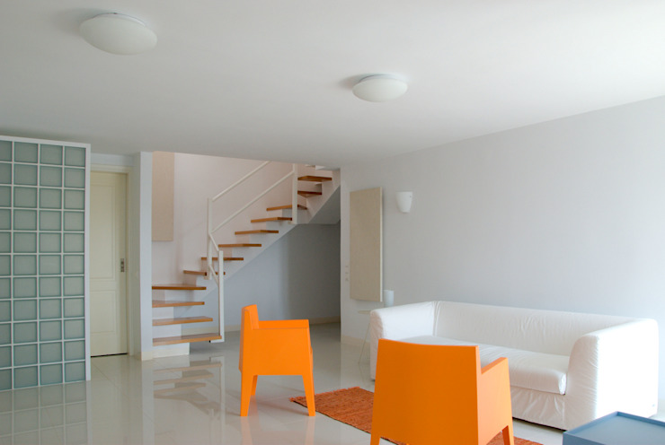 OPA Architetti Minimalist Oturma Odası Turuncu