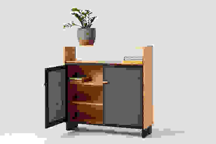 Mueble librería apilable, mueble despensa, mobiliario convertible Liken EstudioArmarios y estanterías Madera maciza Marrón