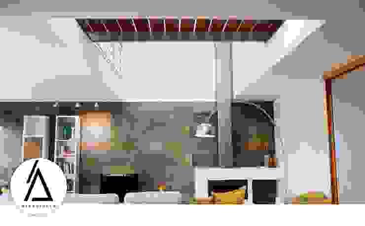 Projeto – Design de Interiores – Sala NR Areabranca Salas de estar modernas