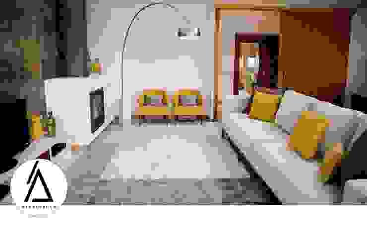 Projeto – Design de Interiores – Sala NR Areabranca Salas de jantar modernas