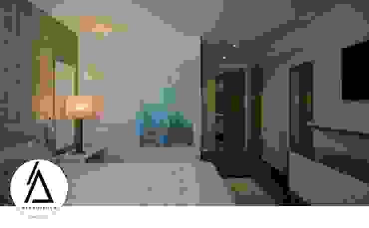 Projeto – Design de Interiores – Apartamento CM Areabranca Quartos modernos