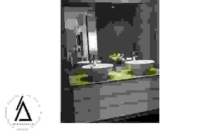 Projeto – Design de Interiores – Apartamento CM Areabranca Casas de banho modernas