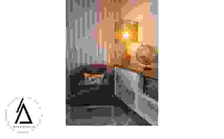 Projeto – Design de Interiores – Apartamento CM Areabranca Escritórios modernos