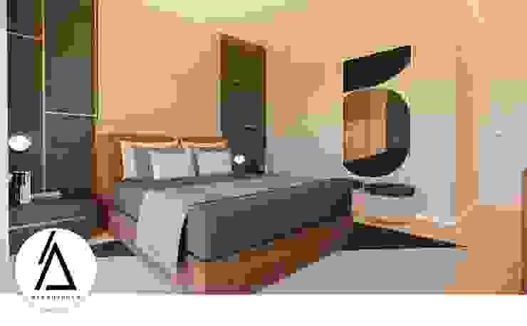 Projeto - Design de Interiores - Suite CL Areabranca Quartos pequenos