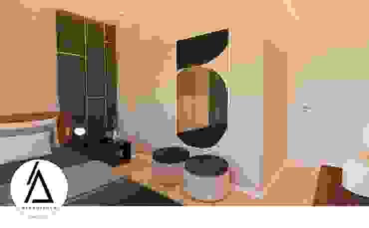 Projeto – Design de Interiores – Suite CL Areabranca Quartos pequenos