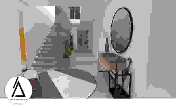 Areabranca Коридор, прихожая и лестница в модерн стиле