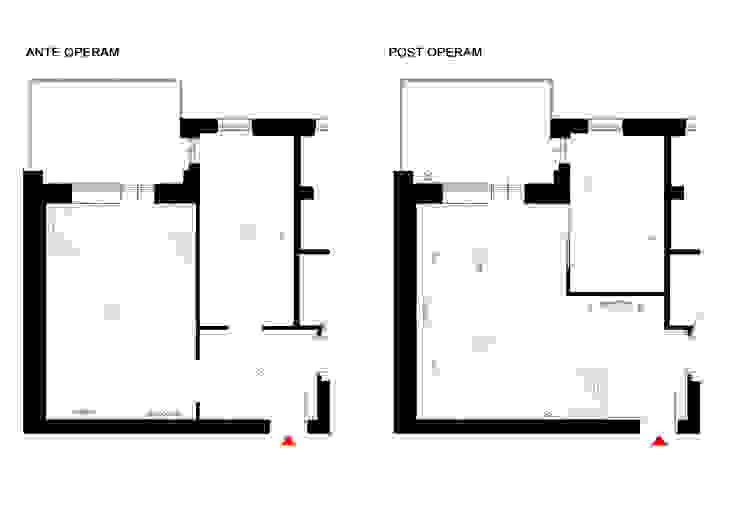 ANTE E POST OPERAM - planimetrie a confronto OPA Architetti