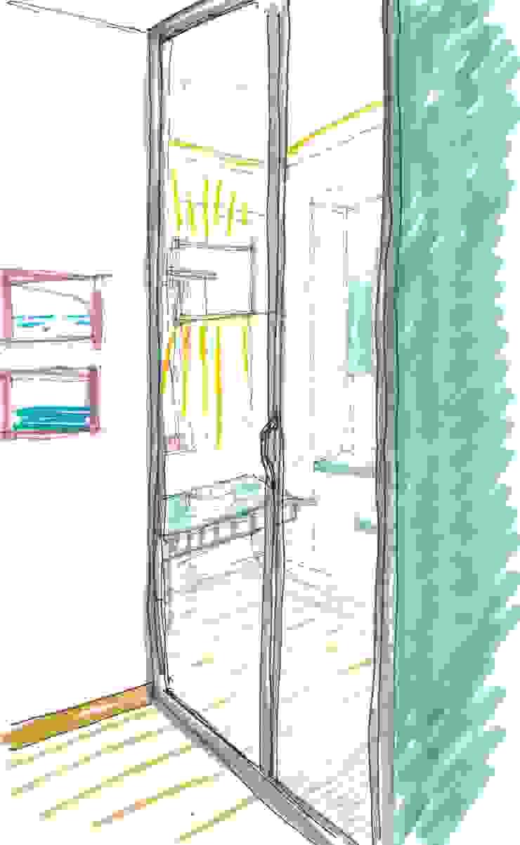 SCHIZZI DI STUDIO - vista cucina OPA Architetti