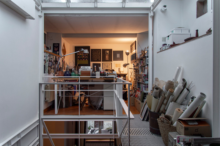 STUDIO OPA Architetti Studio moderno Bianco