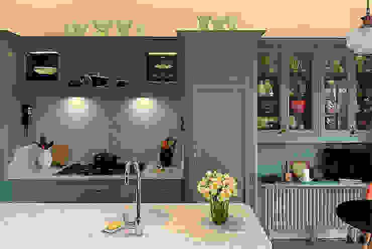 Edwardian style bespoke kitchen in Breakfast Room Green John Ladbury and Company Klassieke keukens