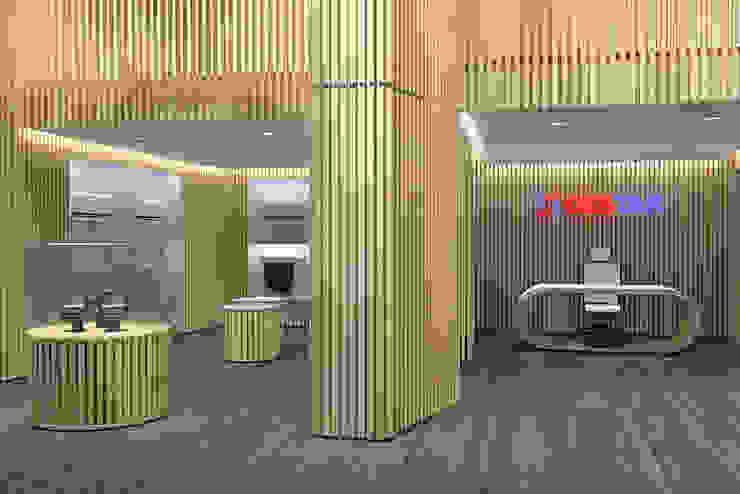 RENDER/ interno Arch+ Studio Negozi & Locali commerciali moderni