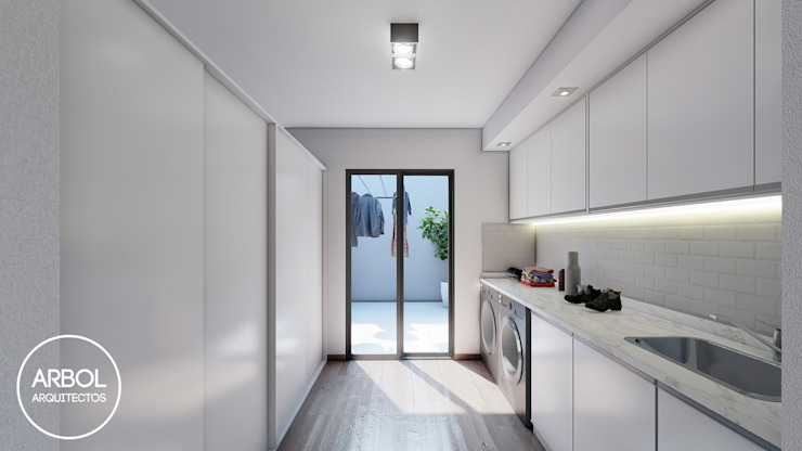 ARBOL Arquitectos Minimalist kitchen