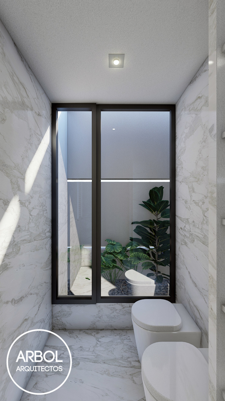 ARBOL Arquitectos Minimalist bathroom