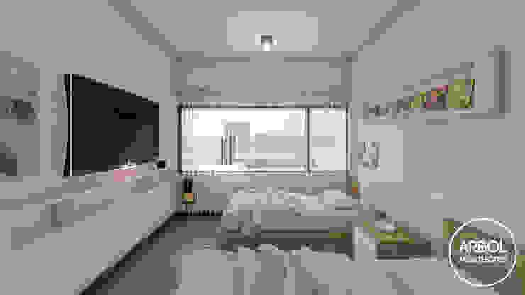 ARBOL Arquitectos Minimalist nursery/kids room