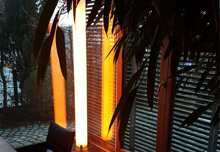 LED Holz-Stehleuchte Lucerna Skapetze Lichtmacher Moderner Wintergarten