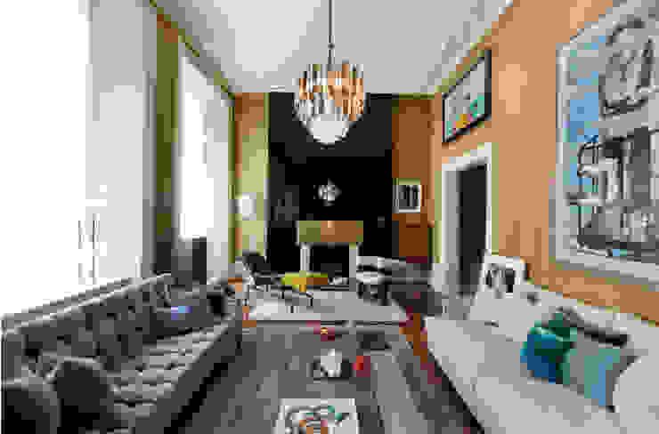 Interior Elegante, Londres Maison Amarande Salas de estar ecléticas