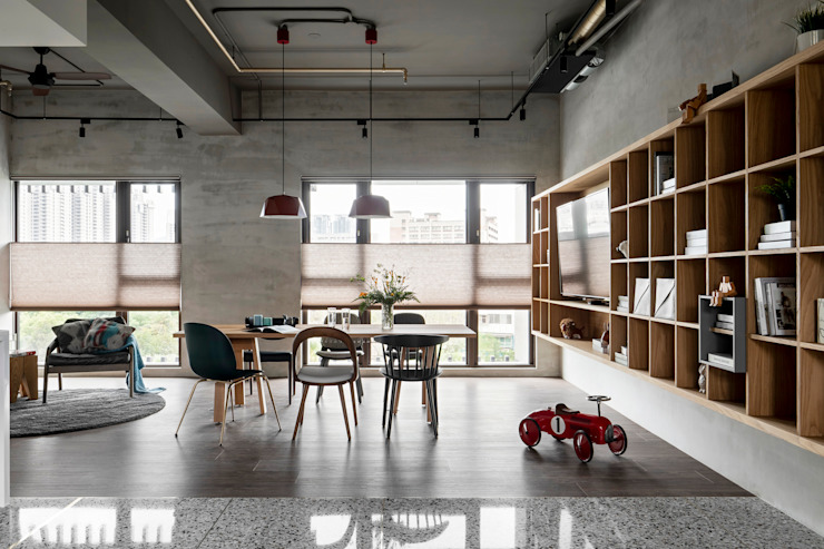 6招簡單佈置技巧,居家辦公也能公私分明|蜂巢簾(空間構成: HAO Design 好室設計) MSBT 幔室布緹 客廳 Grey