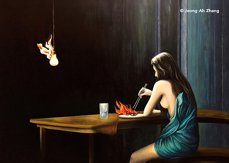 A Quiet Meal Artist JEONG-AH ZHANG (장정아) ArtworkPictures & paintings
