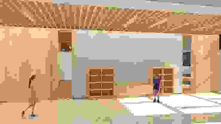禪風設計教室走廊 麥斯迪設計 Asian style corridor, hallway & stairs Solid Wood Wood effect