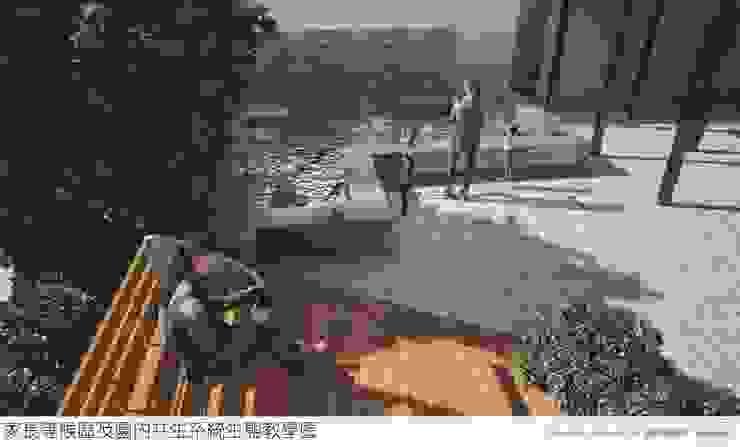 戶外生態教學池 麥斯迪設計 Garden Pond Slate Wood effect