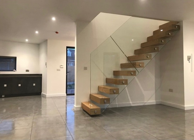 Glass Staircase in Leicester Origin Architectural Stairs Glass Transparent