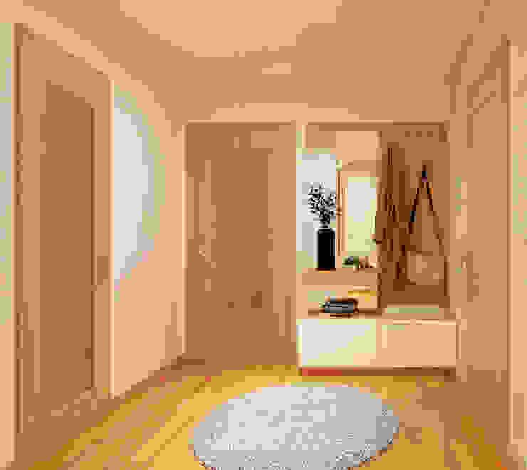 Projeto T1 ByOriginal Corredores, halls e escadas modernos