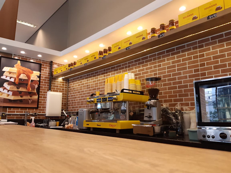 Espresso Havanna - Unidade Galeria Conceito – Itaim Bibi – São Paulo – SP. AVR Studio Arquitetura Lojas & Imóveis comerciais minimalistas