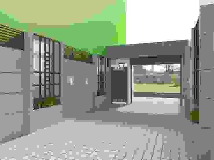 車道內兩側造型圍牆 麥斯迪設計