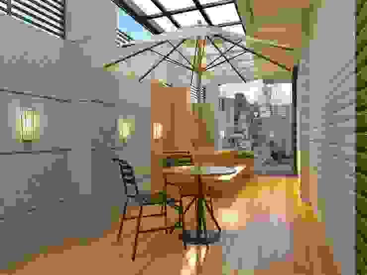戶外咖啡區廊道 麥斯迪設計