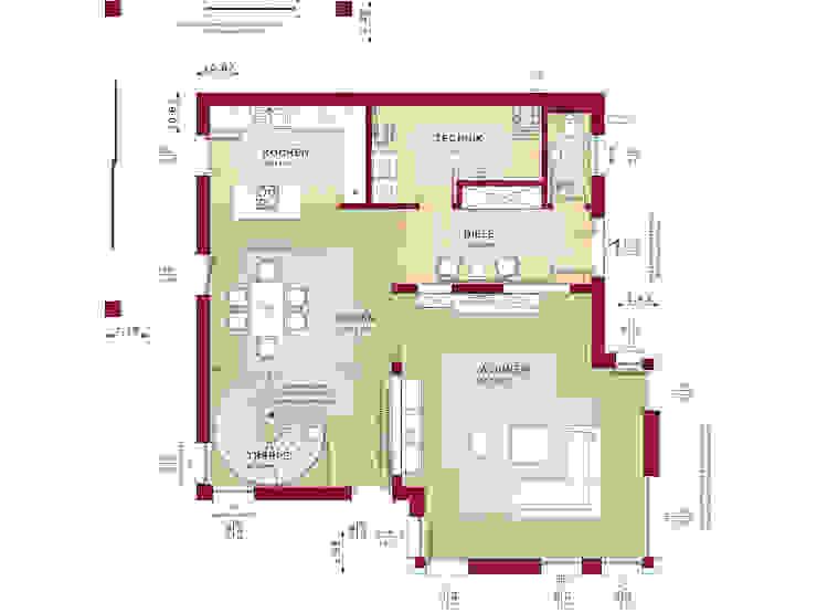 CONCEPT-M 193 Potsdam von Bien-Zenker – Grundriss Erdgeschoss Bien-Zenker Moderne Häuser