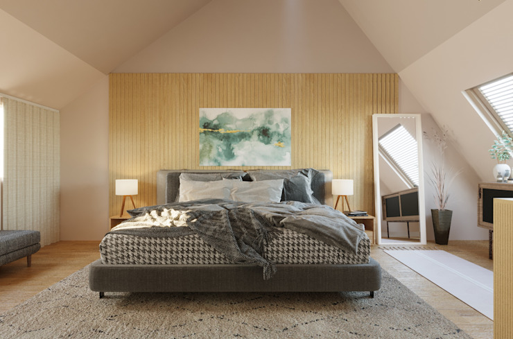 Pieter Postlaan - November, 2020 Day Interior Moderne slaapkamers