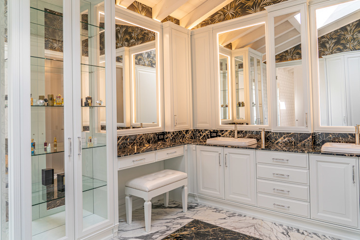 Brummel Rustic style bathroom Solid Wood White