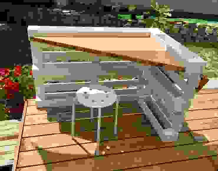 Bureau d'angle en palettes 2nd Chance Créations BureauBureaux Bois Blanc