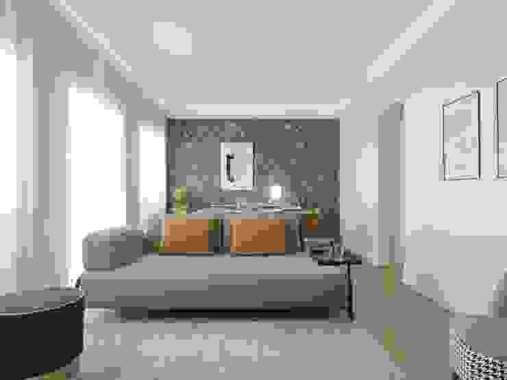 Sala de estar Baobart Arquitetura e Design Salas de estar modernas Amarelo