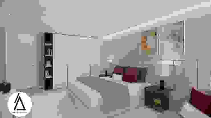 Projeto – Design de Interiores – Suite Principal FR Areabranca Quartos modernos