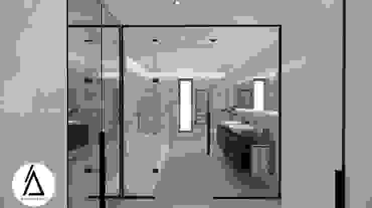 Projeto – Design de Interiores – Suite Principal FR Areabranca Casas de banho modernas