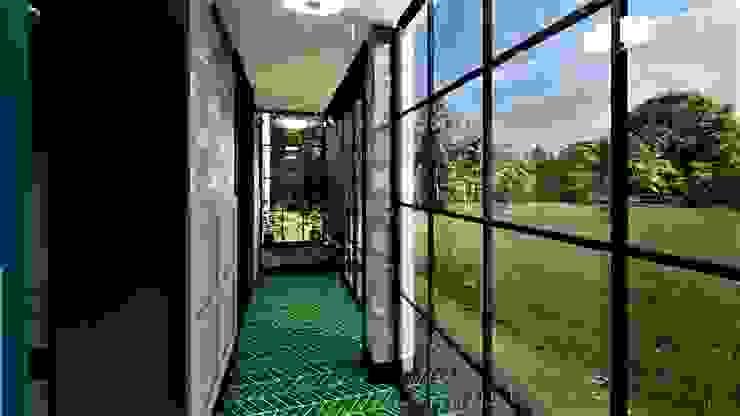 waiatrolap livinghome wnętrza Katarzyna Sybilska Eklektyczny korytarz, przedpokój i schody
