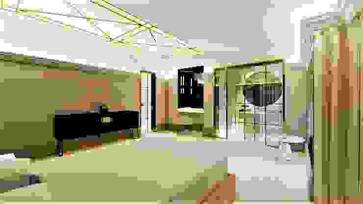 beżowy sen livinghome wnętrza Katarzyna Sybilska Nowoczesna sypialnia