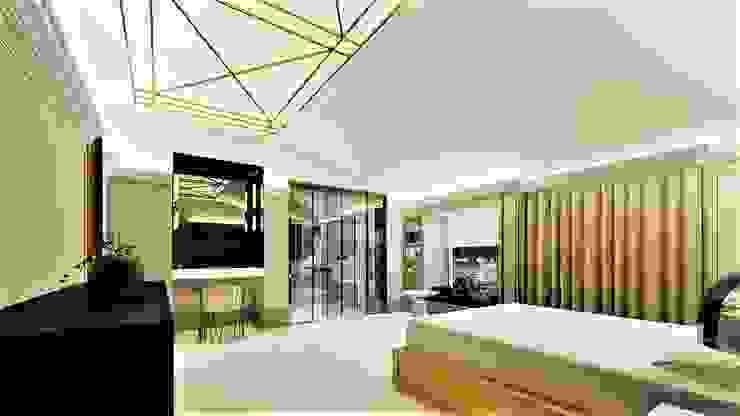 złote sny livinghome wnętrza Katarzyna Sybilska Nowoczesna sypialnia