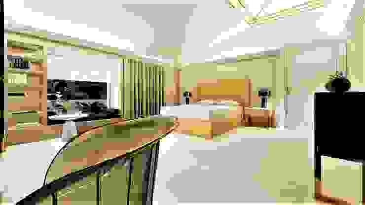 gold room livinghome wnętrza Katarzyna Sybilska Nowoczesna sypialnia
