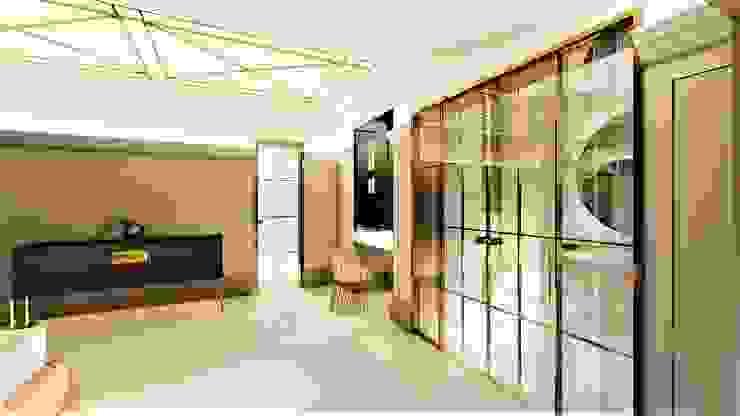 złote drzwi livinghome wnętrza Katarzyna Sybilska Drzwi