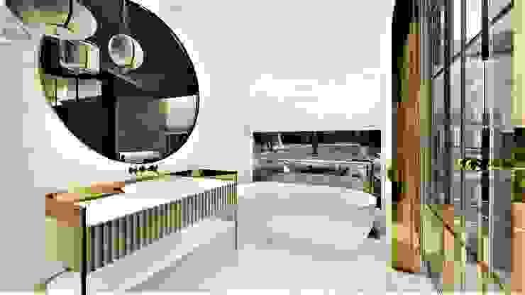 salon kąpielowy livinghome wnętrza Katarzyna Sybilska Nowoczesna łazienka