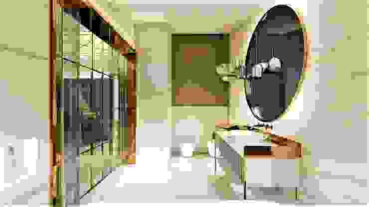 łazienka w sypialni livinghome wnętrza Katarzyna Sybilska Nowoczesna łazienka